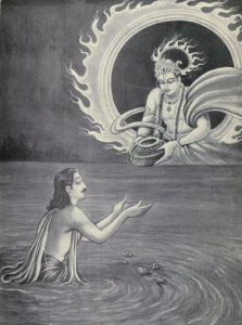 Surya-donne-a-Yudhishthira_le_Akshayapatra-lors-du-ramayana